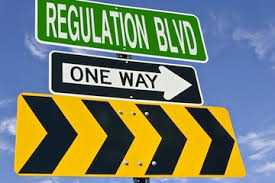 regulation blvd street sign
